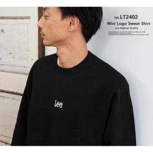 【 Lee リー 】ミニロゴ刺繍 クルーネックスウェット LT2402|jeansstation|03