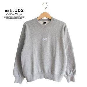 【 Lee リー 】ミニロゴ刺繍 クルーネックスウェット LT2402|jeansstation|08