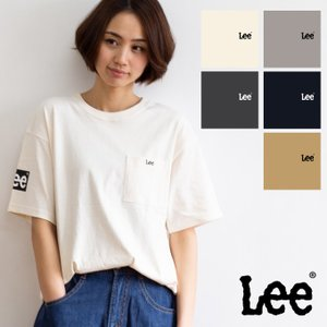 【Lee リー】SLEEVE PRINT TEE ボックスロゴ スリーブ プリント ポケット Tシャツ LT2643