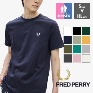 【 FRED PERRY フレッドペリー 】 RINGER T-SHIRT ワンポイント ロゴ リンガー Tシャツ M3519|jeansstation