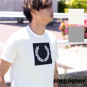 【 FRED PERRY フレッドペリー 】PRINTED LAUREL WREATH T-SHIRT ローレルプリント半袖Tシャツ M3601|jeansstation