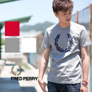 【FRED PERRY フレッドペリー】ビッグローレルロゴクルーネックTシャツ M7259|jeansstation