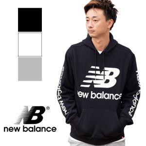 cce22bf45e232 【new balance ニューバランス】NBビッグロゴ プルオーバーパーカー MT83586