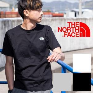 【THE NORTH FACE ザ ノース フェイス】S/S Nuptse Cotton Tee ヌプシコットン ワンポイントロゴ 半袖Tシャツ NT31833