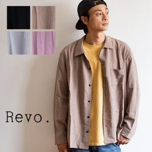 【 Revo. レヴォ 】 ルーズシルエット オープンカラー LS 長袖シャツ TH-2914|jeansstation