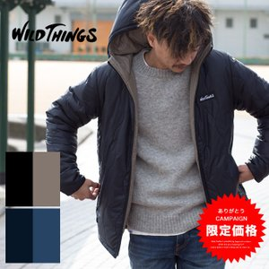 【WILDTHINGS ワイルドシングス】REV HOODED JACKET リバーシブル フーデッドジャケット WT17101N/メンズ/トップス/アウター/防寒/プリマロフト/中綿 jeansstation