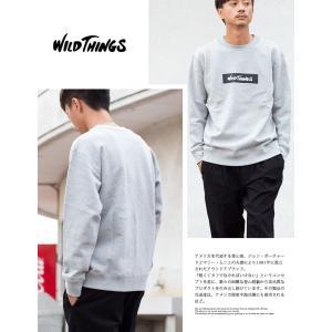 【SALE!!】【WILDTHINGS ワイルドシングス】ボックスロゴクスウェットプルオーバー WT18207N|jeansstation|03