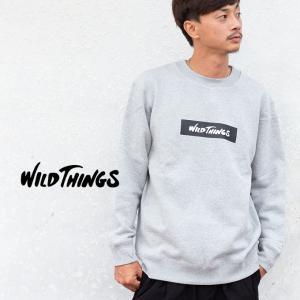 【SALE!!】【WILDTHINGS ワイルドシングス】ボックスロゴクスウェットプルオーバー WT18207N|jeansstation|05