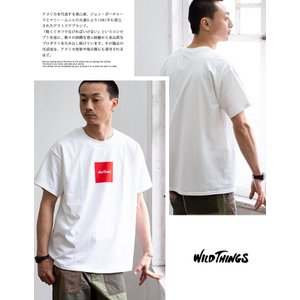 【SALE!!】【WILDTHINGS ワイルドシングス】SQUARE WILD THINGS スクエアロゴS/S Tシャツ WT19031H|jeansstation|03
