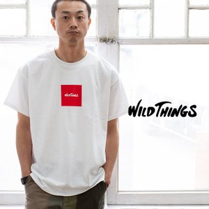 【SALE!!】【WILDTHINGS ワイルドシングス】SQUARE WILD THINGS スクエアロゴS/S Tシャツ WT19031H|jeansstation|05