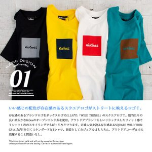 【SALE!!】【WILDTHINGS ワイルドシングス】SQUARE WILD THINGS スクエアロゴS/S Tシャツ WT19031H|jeansstation|06
