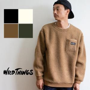 【 WILDTHINGS ワイルドシングス 】 FLUFFY BOA L/S CREW フラッフィー ボア クルーネックスウェット WT19121N|jeansstation