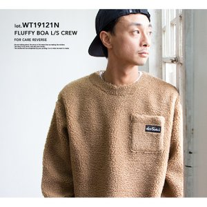 【 WILDTHINGS ワイルドシングス 】 FLUFFY BOA L/S CREW フラッフィー ボア クルーネックスウェット WT19121N|jeansstation|03