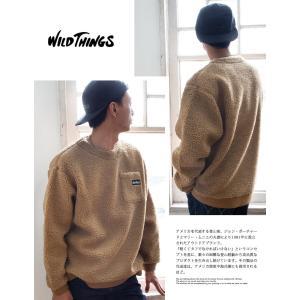 【 WILDTHINGS ワイルドシングス 】 FLUFFY BOA L/S CREW フラッフィー ボア クルーネックスウェット WT19121N|jeansstation|04