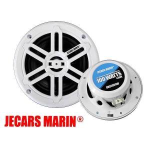 マリン スピーカー 5.25インチ 100ワット 防水 耐水 ホワイト 2個セット DBS5004W...