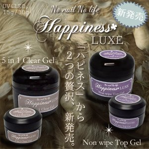 [No nail no life] ハピネスリュクス  ノンワイプトップ / 5in1クリア 15g