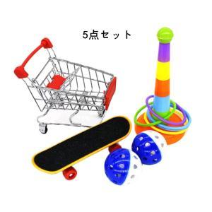 バードトイ インコ玩具 鳥のおもちゃ 知育玩具 訓練玩具 ストレス解消 5点セット 色識別能力 知能開発 ペット用品|jellykeystyle