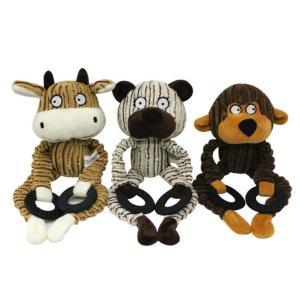 犬おもちゃ 音が出る 噛む玩具 犬用 ぬいぐるみ製 インタラクティブトレーニング 耐久性 3点セット jellykeystyle