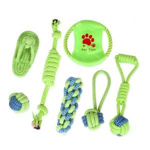 ペット おもちゃ 犬 ワンちゃん 噛む 歯ぎ清潔 7個セット ロープ 歯磨き 子犬 小型犬・中型犬 遊び ストレス解消 運動不足解消 jellykeystyle