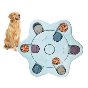 犬 知育玩具 おもちゃ ノーズワーク いぬの知育トイ 早食い防止ペット食器 IQ UP 小型犬 中型犬 スロウフィーダーボウル 六角形 jellykeystyle