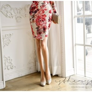 セクシーワンピース レディース 40代 50代 ファッション 上品 きれいめ 花柄 カシュクールワンピース  ワンピ タイトワンピース パーティードレス 秋物|jennie-alice|02