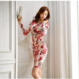 セクシーワンピース レディース 40代 50代 ファッション 上品 きれいめ 花柄 カシュクールワンピース  ワンピ タイトワンピース パーティードレス 秋物|jennie-alice|11