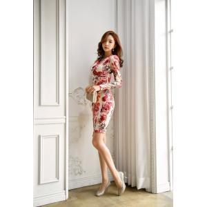 セクシーワンピース レディース 40代 50代 ファッション 上品 きれいめ 花柄 カシュクールワンピース  ワンピ タイトワンピース パーティードレス 秋物|jennie-alice|14