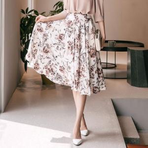スカート レディース 膝丈 花柄 フラワー 30代 40代 ...