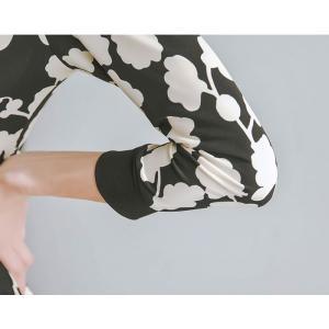 ワンピース レディース 上品 カシュクールワンピース 膝丈 柄 Aライン 7分袖 40代 ファッション 2018 春 新作|jennie-alice|08