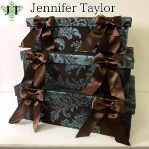 ジェニファーテイラー BOX ボックス 3ヶセット 小物入れ 収納 高級 おしゃれ かわいい エステ ネイル Carlisle  Jennifer Taylor 32018BX|jennifertaylor