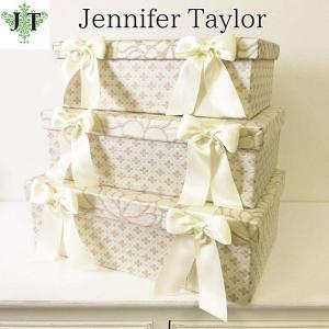 ジェニファーテイラー BOX ボックス 3ヶセット 小物入れ 収納 高級 おしゃれ かわいい エステ ネイル Lumina  Jennifer Taylor 32021BX|jennifertaylor