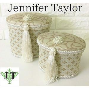 ジェニファーテイラー オーバルボックス 2ヶセット 小物入れ 収納 高級 おしゃれ かわいい エステ ネイル Lumina  Jennifer Taylor 32025BX|jennifertaylor