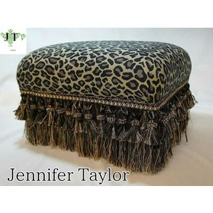 ジェニファーテイラー フットスツール 椅子 イス 玄関 廊下 布 布張り 高級 おしゃれ かわいい Espresso  Jennifer Taylor 32059ST|jennifertaylor