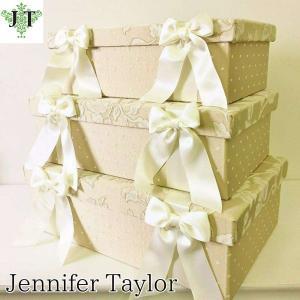 ジェニファーテイラー BOX ボックス 3ヶセット 小物入れ 収納 高級 おしゃれ かわいい エステ ネイル Heirloom Jennifer Taylor 32115BX|jennifertaylor