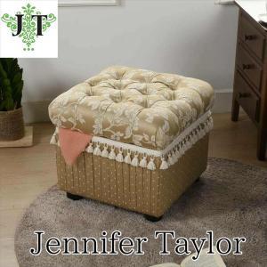 ジェニファーテイラー 収納 スツール 椅子 イス 玄関 廊下 布 布張り 高級 おしゃれ かわいい Heirloom Jennifer Taylor 32144ST|jennifertaylor