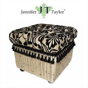 ジェニファーテイラー 収納 スツール 椅子 イス 玄関 廊下 布 布張り 高級 おしゃれ かわいい ダマスク Yorke Jennifer Taylor 32145ST|jennifertaylor