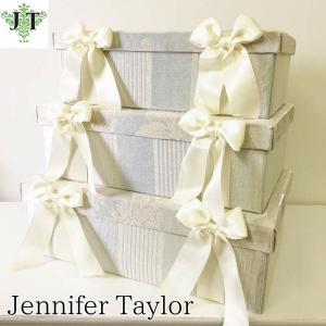 ジェニファーテイラー BOX ボックス 3ヶセット 小物入れ 収納 高級 おしゃれ かわいい エステ ネイル Lorraine/SVSX  Jennifer Taylor 32194BX|jennifertaylor