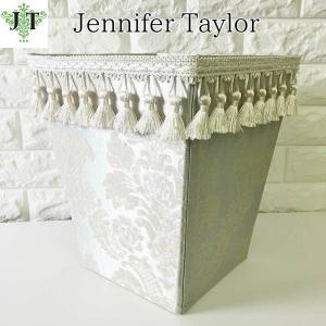 ジェニファーテイラー ダストボックス ごみ箱 布 布張り 高級 おしゃれ かわいい エステ ネイル Lorraine SVSX  Jennifer Taylor 32198DB|jennifertaylor