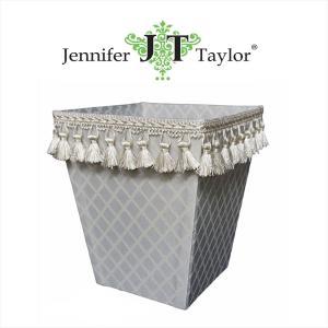 ジェニファーテイラー ダストボックス ごみ箱 布 布張り 高級 おしゃれ かわいい エステ ネイル Swanson  Jennifer Taylor 32248DB jennifertaylor