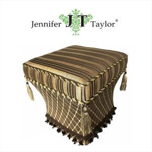 ジェニファーテイラー スツール 椅子 イス 布 布張り 高級 おしゃれ かわいい ダマスク Broderick Jennifer Taylor 32256ST|jennifertaylor