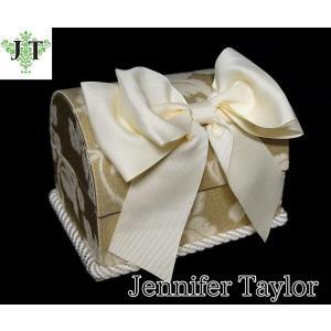 ジェニファーテイラー トランク BOX ボックス 小物入れ 収納 高級 おしゃれ かわいい エステ ネイル リボン Heirloom 3 Jennifer Taylor 32288BX|jennifertaylor