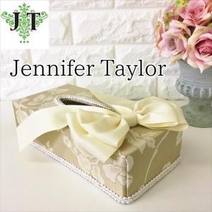 ジェニファーテイラー ティッシュボックス カバー ケース 収納 布 布張り 高級 おしゃれ かわいいエステ ネイル リボン Heirloom  Jennifer Taylor 32296TB jennifertaylor