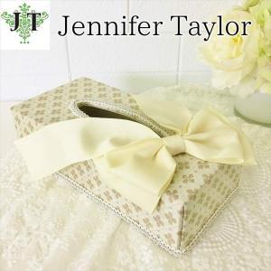 ジェニファーテイラー ティッシュボックス リボン カバー ケース 収納 布 布張り 高級 おしゃれ かわいい エステ ネイル  Lumina  Jennifer Taylor 32297TB|jennifertaylor