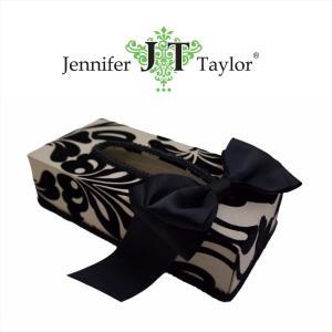 ジェニファーテイラー ティッシュボックス カバー ケース 収納 布 布張り 高級 おしゃれ かわいい エステ ネイル ダマスク Yorke  Jennifer Taylor 32298TB|jennifertaylor