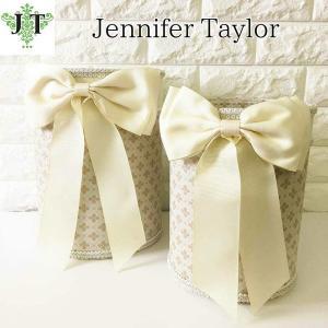ジェニファーテイラー ダストボックス 2ケセット ごみ箱 布 布張り 高級 おしゃれ かわいいエステ ネイル Lumina  Jennifer Taylor 32301DB|jennifertaylor