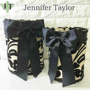 ジェニファーテイラー ダストボックス 2ケセット ごみ箱 布 布張り 高級 おしゃれ かわいいエステ ネイル ダマスク Yorke  Jennifer Taylor 32302DB|jennifertaylor