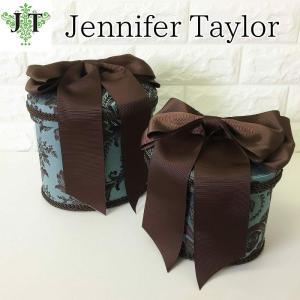 ジェニファーテイラー オーバル ボックス 2ヶセット 小物入れ 収納 高級 おしゃれ かわいい エステ ネイル リボン Carlisle Jennifer Taylor 32338BX|jennifertaylor