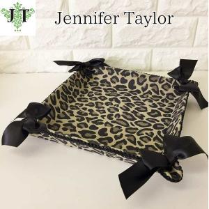 ジェニファーテイラー トレイ トレー 小物入れ リボン 布 布張り 収納 高級 おしゃれ かわいい エステ ネイル Espresso  Jennifer Taylor 32445TY|jennifertaylor