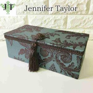 ジェニファーテイラー ジュエリーボックス 宝石箱 小物入れ 布 布張り 収納 高級 おしゃれ かわいい Carlisle Jennifer Taylor 32451JB|jennifertaylor