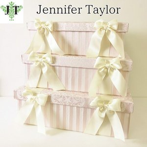 ジェニファーテイラー BOX ボックス 3ヶセット 小物入れ 収納 高級 おしゃれ かわいい エステ ネイル Haruno  Jennifer Taylor 32474BX|jennifertaylor